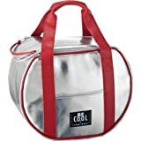 Be Cool Cool Bag - Bolsa nevera redonda (21 L), color plateado
