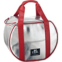 Be Cool - Borsa termica rotonda, colore: argento, 21 L