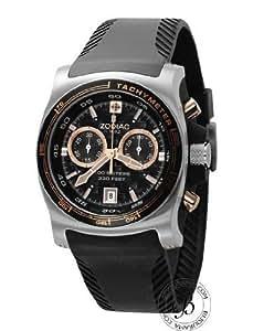 Zodiac - ZO7502 - Montre Homme - Chronographe - Quartz Analogique - Dateur - Bracelet Plastique noir