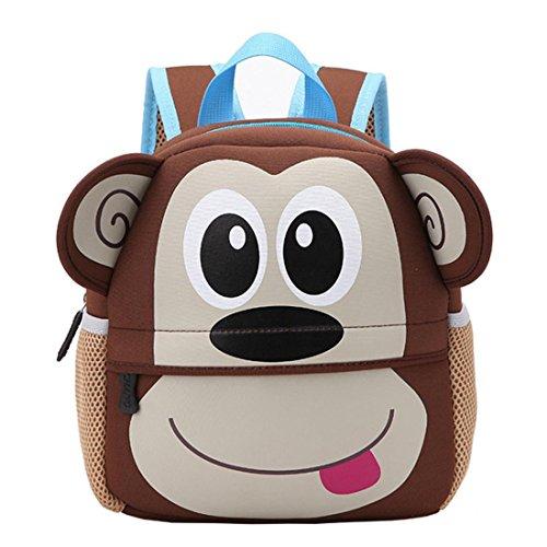 Schultaschen KinderBtruely Mädchen Rucksäcke Baby Elegant Reisetaschen Mädchen Junge Tasche Hochschulwind Leinwand Rucksack (G) (Babys Rucksack)