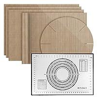 Vintoney [6 Pieces Silicone Baking Mat Set Non-Slip Washable Reusable Heat Resistant Non-Stick Coated, BPA Free, Non Stick