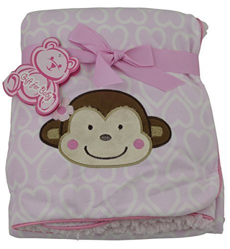 little-mimos-baby-sherpa-blanket-with-monkey-design-pink-by-little-mimos