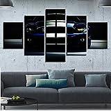 Modular Painting Wall Art HD Gedruckt Für die Moderne Leinwand Poster 5 Panel Sportwagen Wohnzimmer Bilder Dekoration, Geringe Größe