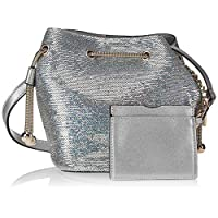 Zeneve London Womens Bucket Bag, Silver - 1198587000