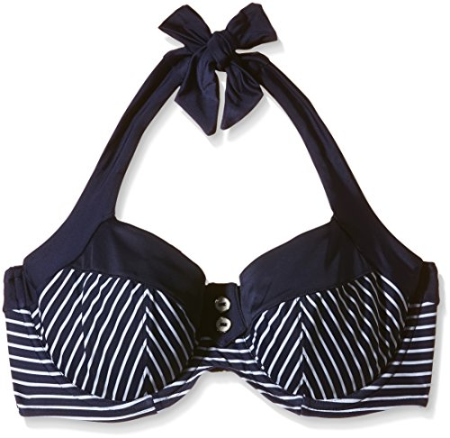 Panache Damen Neckholder Bikinioberteil Mehrfarbig (Marineblau/Weiß)