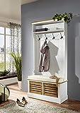 SAM® Garderobe Paris 401 aus weiß lackiertem Paulowniaholz im Landhausstil, teilmassiv, zwei Schubboxen, eine Ablagefläche, viel Strauraum