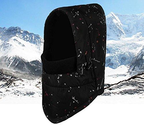 KYXXLD Lei Feng Winter Outdoor Cap Cashmere thermische Ohrenschützer Radfahren Ski Cap schwarz