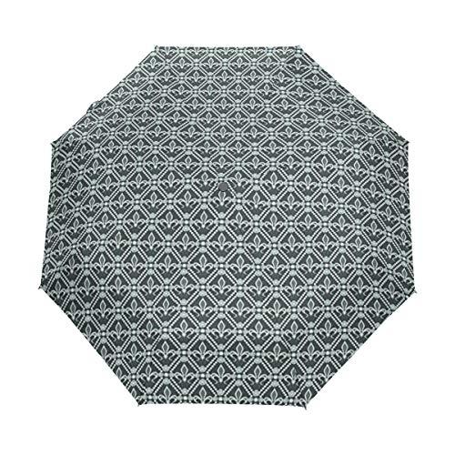 Soloatman Fleur de Lis Regenschirm, wendbar, für Auto und Außenbereich (Fleur Di Lis Gepäck)