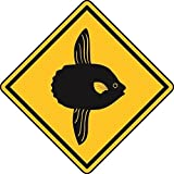 U24 Aufkleber Vorsicht Mondfisch Autoaufkleber Sticker