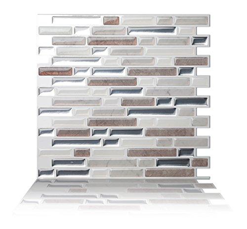 Tic Tac Tiles Anti-Schimmel schälen und stecken Wand-Fliese In Como Pebble 10 10