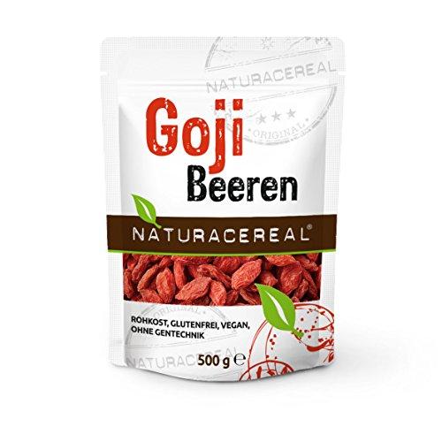 Naturacereal Goji Beeren ungeschwefelt, 1er Pack (1 x 500 g)