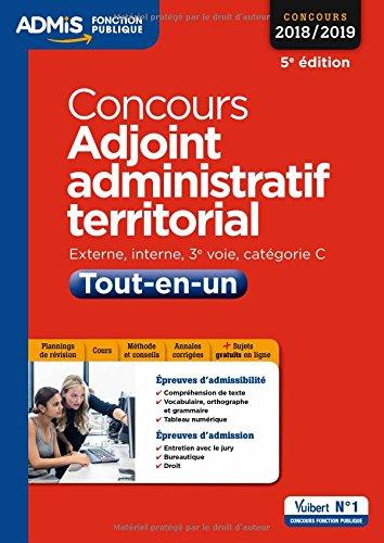 Concours Adjoint administratif territorial - Catégorie C - Tout-en-un - Concours 2018-2019