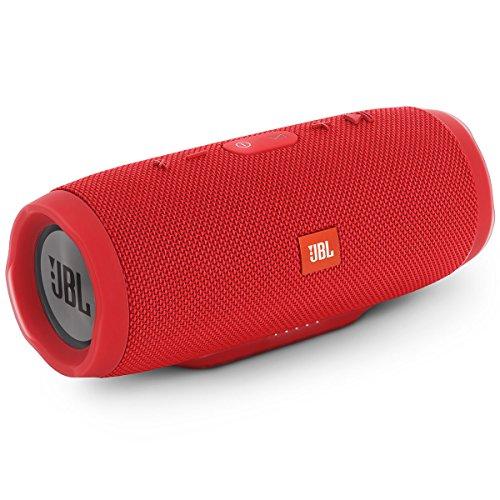 JBL Charge 3 Tragbarer Bluetooth-Lautsprecher (wasserdicht, mit 6000 mAh Power Bank und Freisprechfunktion) rot