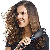 HBMALLINDIA 2 In 1 Ceramic Hair Straightener Brush (Black)