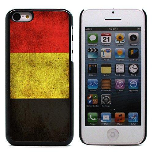 Graphic4You Vintage Uralt Flagge Von Portugal Portugiesisch Design Harte Hülle Case Tasche Schutzhülle für Apple iPhone 5C Belgien Belgisch