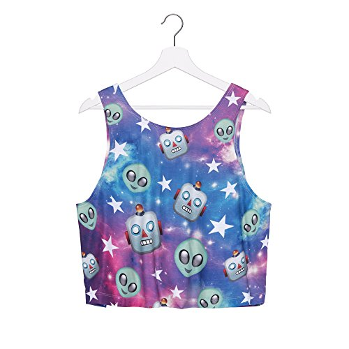 Fringoo - Débardeur - Femme multicolore Multicoloured Taille Unique Galaxy Robot