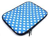 Emartbuy Polka Dots Blau / Weiß Wasserabweisende Weiche