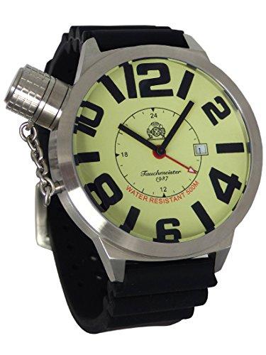 XXL-Schwere U-Boot GMT Militär-Taucher Uhr von Tauchmeister T66PU