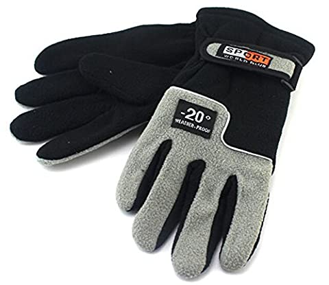 BXT Unisex Insulated Warm Fleece Gloves, Polar Fleece Thermal Windproof Snowproof Winter Sports Gloves Ski Snowboard Riding Motocycling Bike Hiking Camping Outdoor Gloves