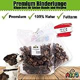 Alto-Petfood 500g getrocknete Rinderlunge für Hunde - kleine Häppchen, Würfel | 100% natürliche Hundeleckerli, Kauartikel, Kausnack wie Rinderkopfhaut, Schweineohren | wiederverschließbarer Beutel