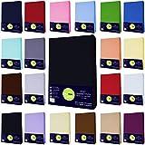 Buymax Baby Spannbettlaken für Kinderbetten Spannbetttuch Bettlaken, 60x120-70x140 cm, Schwarz