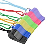 INFInxt 12 Colorful Whistle Nylon Treaded Party Favors, Bulk Toys, and Noisemakers