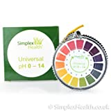 Simplex Health pH Indicator Litmus Test Paper Strip Roll, 0 - 14 For Water Urine And Saliva, 5 Meters