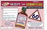 Glückwunschkarte Geburtstagskarte mit Kräuterlikör zum Geburtstag. Originelle Rezept- Grußkarte aus der Humor Apotheke als Geburtstagsgeschenk mit Schnaps harzer Likör (Rezeptkarte zum 60. 22105)
