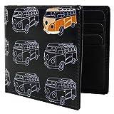 Golunski Mens Leather Bi-Fold Wallet by Retro Camper Van Boxed