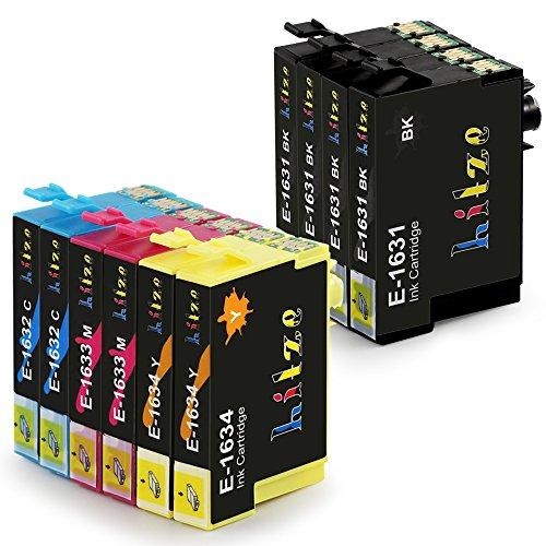Hitze Epson 16XL 16 XL Cartucce D'inchiostro Compatibile per Epson Workforce WF-2630 WF-2750 WF-2510 WF-2760 WF-2530 WF-2520 WF-2650 WF-2010 WF-2660 WF-2540 (4 Nero, 2 Ciano, 2 Magenta, 2 Giallo)