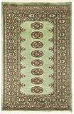 Nain Trading Pakistan Buchara 3ply 121x77 Orientteppich Teppich Grau/Dunkelbraun Handgeknüpft Pakistan