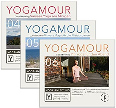 Spar-Set: Yoga für jede Tageszeit - 3 YOGAMOUR DVDs für morgens, mittags und abends mit Vinyasa Flow, Yin Yoga & Faszien Traini
