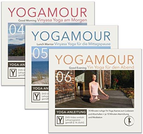 Spar-Set: Yoga für jede Tageszeit - 3 YOGAMOUR DVDs für morgens, mittags und abends mit Vinyasa Flow, Yin Yoga & Faszien Training