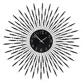 XL Designer Wanduhr Feder Metall Glas Kristalloptik außen geeignet Garten 70 cm - Riesige Designer Uhr in Kristalloptik aus Metall und Glas - wetterfest, freie Standortwahl im Innen- und Außenbereich