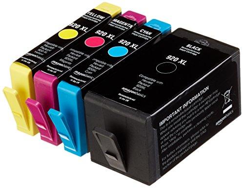 AmazonBasics - Wiederaufbereitete Tintenkartuschen für Canon HP 920XL, Kombi-Packung