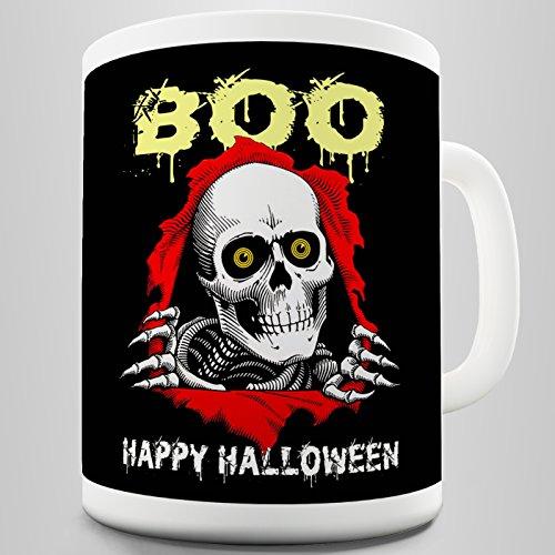 Twisted Envy Boo Happy Halloween Keramik Tasse, keramik, weiß, 15 - Sie Halloween-boo Happy