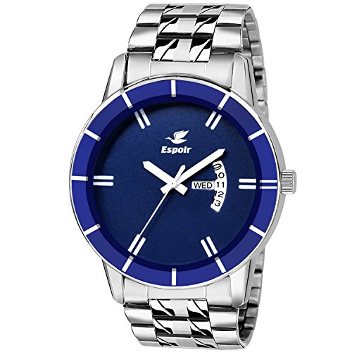 Espoir Analog Blue Dial Day and Date Boy's and Men's Watch -...