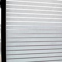 Concus-T Estática aferran vinilo premium Frosted rayas de privacidad lámina para ventanas de cristal de las ventanas de cristal de la puerta 90*200CM