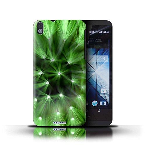Kobalt® Imprimé Etui / Coque pour HTC Desire 816 / Rose conception / Série Couleur/Lumière Fleur Vert