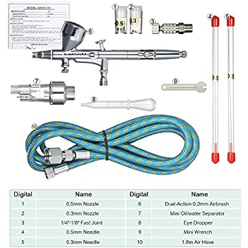5 Pcs Mini Precision Airbrush /& Buse de pulvérisation de nettoyage Tube Kit