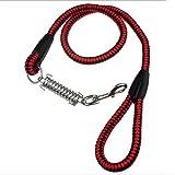 GCHOME Guinzaglio per cani Catena in nylon per animali da compagnia Outdoor Bike Training da trazione morbido, confortevole e resistente (rosso)