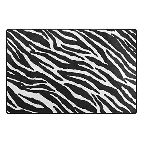 MONTOJ Tierfell-Matte für Schuhe, Zebramuster, super weiche Bodenmatte für Wohnzimmer,...