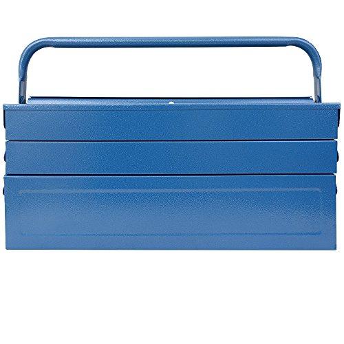 Werkzeugkoffer leer groß ✔ Stahl ✔ 5-teilig ✔ Deuba® - Werkzeugkasten Werkzeugbox Werkzeugkiste Werkzeug Montage Koffer - blau - 580x220x210mm - 4