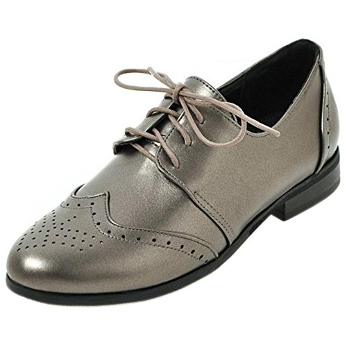 Oxfords Donne TAOFFEN Gun Color Primavera waxqzCU