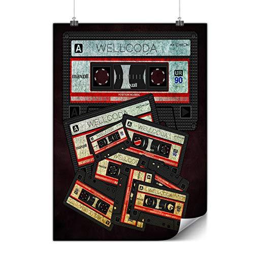 Wellcoda Musik Kassette Band Plakat 90er Jahre A0 (119cm x 84cm) Glänzend schweres Papier, Ideal für die Gestaltung, Einfach zu hängen Kunst