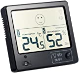 FreeTec Thermo Hygrometer: Raumklima-Thermometer mit Hygrometer mit Alarmfunktion (Digitale Hygrometer Thermometer)
