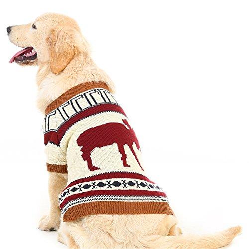 PUPTECK Hundepullover mit Rentiermotiv, Festliche Winterkleidung, S, Rentier -