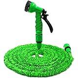 Xiaohe 50Füße erweiterbar Garten Bewässerung Schlauch Rohr mit 7-Wege-Sprühdüse Gun für Bewässerung, Auto waschen, PET Waschen