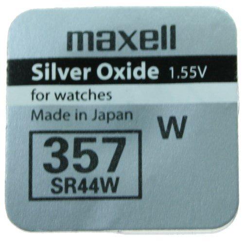 1 X Pile Maxell 357 Batterie Originale SR0044W 1,55 V Pile Oxyde D'argent Maxell Boutons