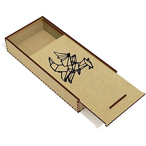 Azeeda 'Origami Drago' Astuccio per matite in Legno (PC00014942)